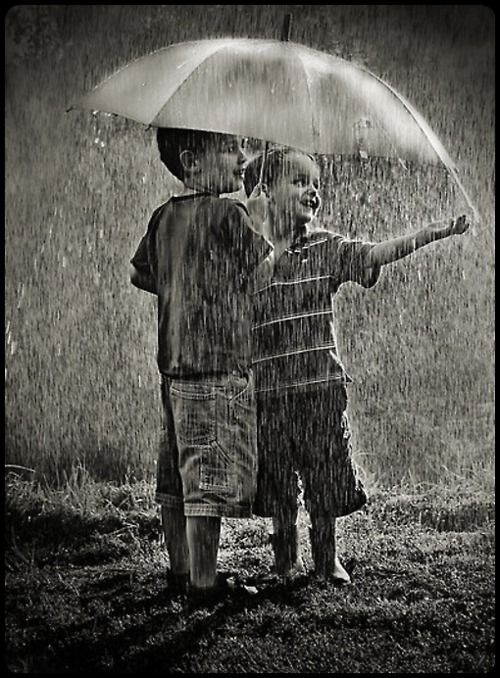 Best Friends in rain photos