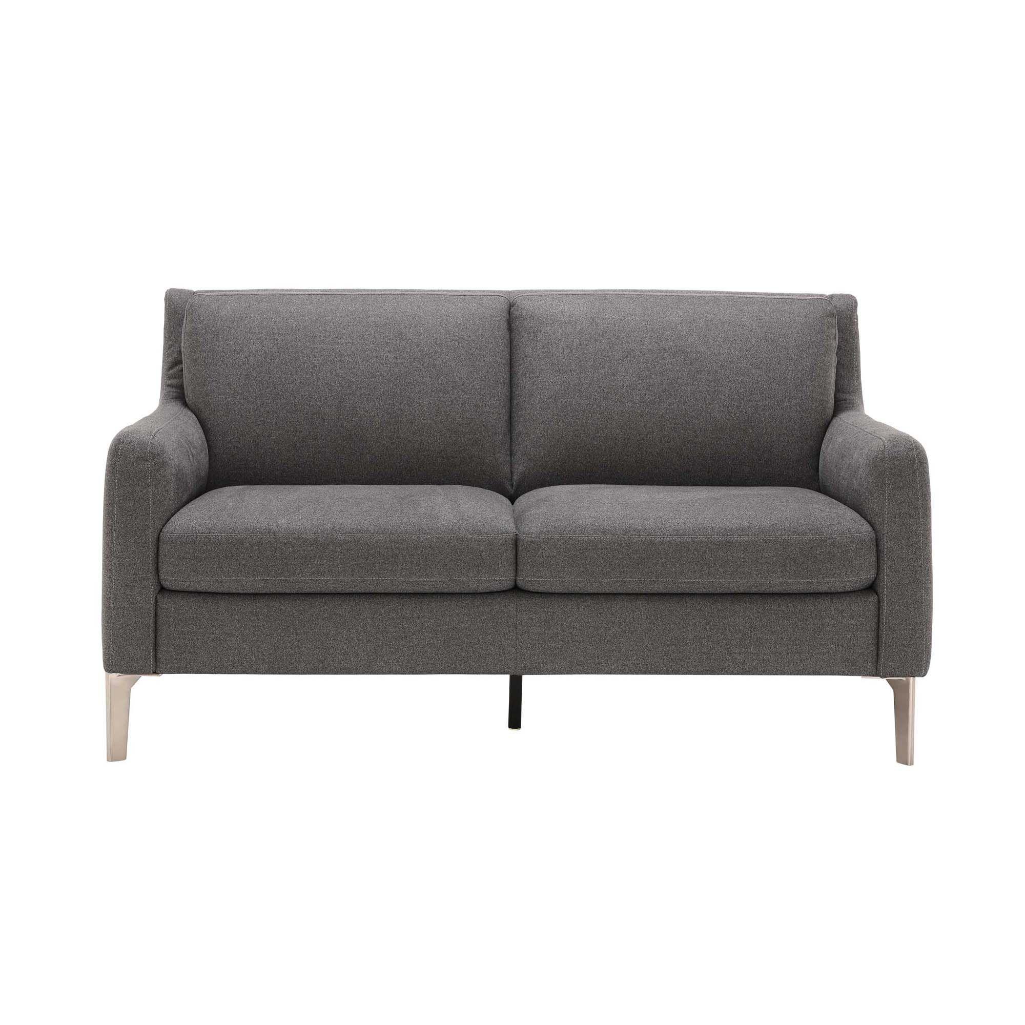 Cabrini Loveseat, Grey Fabric sofa, Modern sofa, Love seat