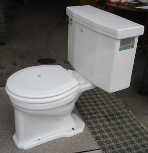 Vintage White 1958 American Standard Toilet Complete Freight