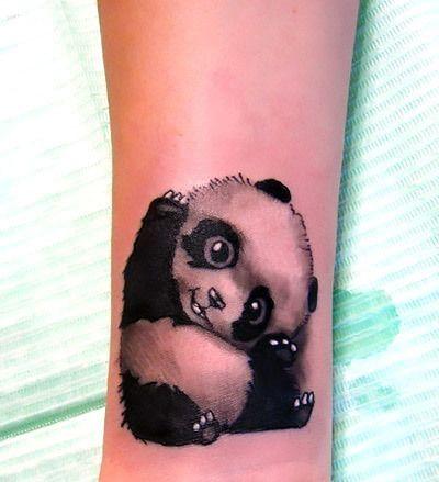 Pretty Little Panda Bear Tattoo Idea Tattoos Pinterest Tattoos