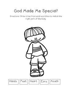God Made Me Special - Worksheet Bundle | God made me, Sunday ...