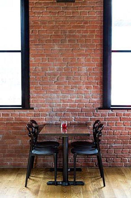 Restaurant Wandverkleidung Backstein Optik Ladrillo Loft Red