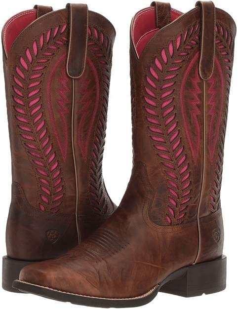 Ariat - Quickdraw Venttek Cowboy Boots - love the pink accents!  #ariat #afflink