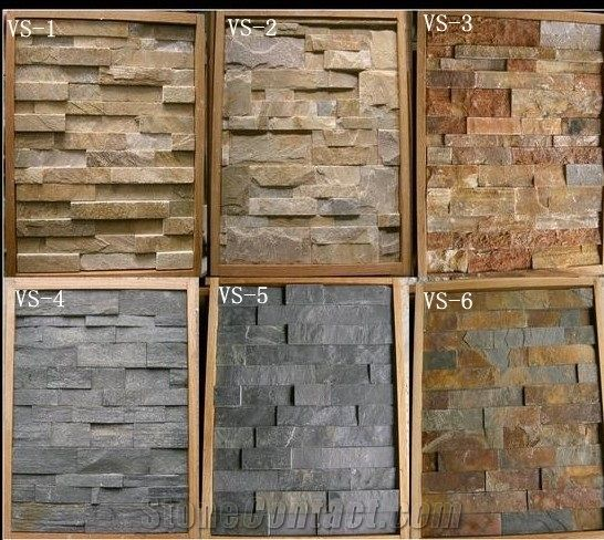 Natural Exterior Decorative Wall Stone Types Of Natural Slate