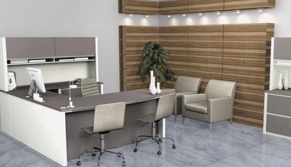Büromöbel weiss grau  Dimensionen bei dem Büromöbel Design - büromöbel design ...