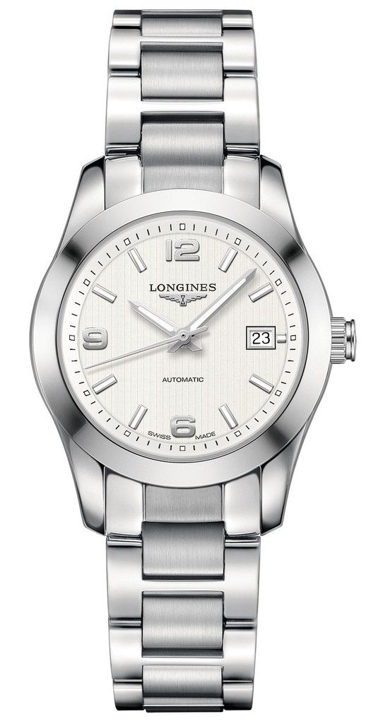 03a7a4b64 Longines Watch Conquest Classic #bezel-fixed #bracelet-strap-steel #brand- longines #case-material-steel #case-width-295mm #date-yes ...