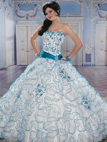 14+ Blue and white quinceanera dress ideas