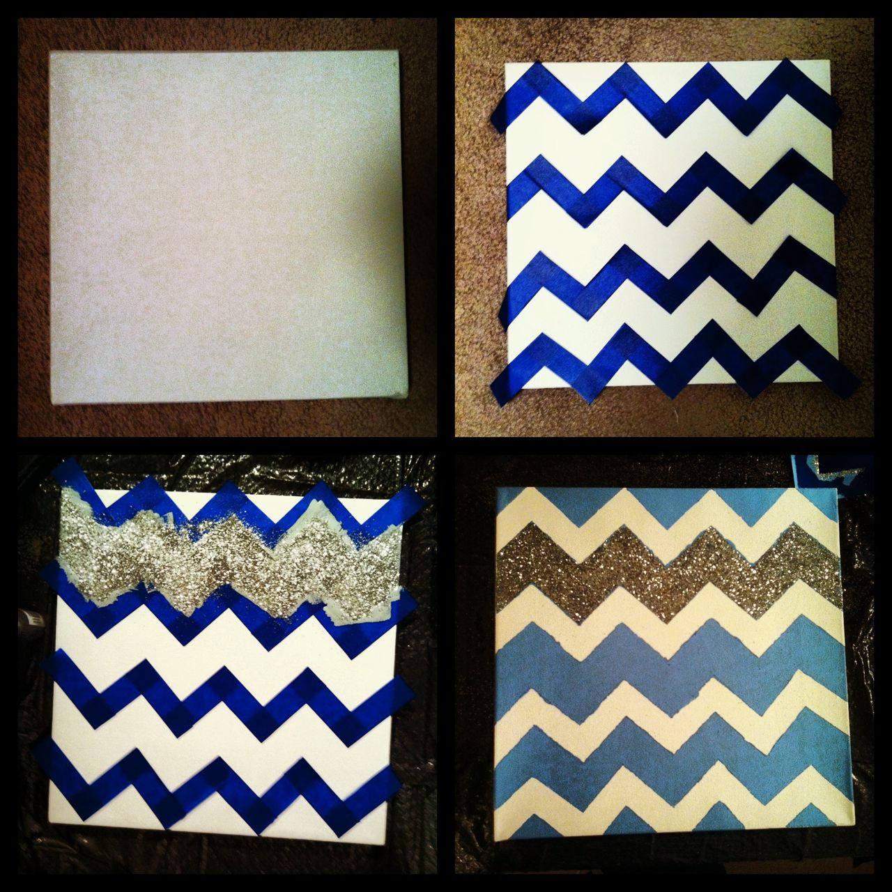 frame collauge with fabric | Feeling Crafty | Pinterest | Chevron ...