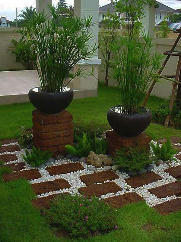 Dekorative Grüne Topfpflanzen Für Den Garten - Gartengestaltung ... Ideen Gartengestaltung Italienischer Stil
