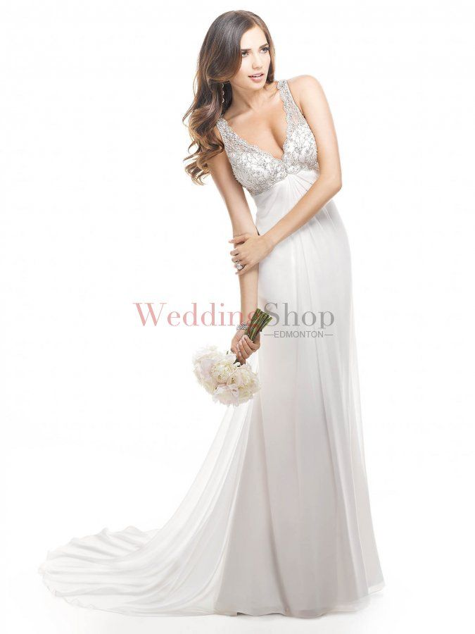 24ebf61323 V-Neck Chapel Train Chiffon Wedding Dress -  302.00   Wedding Dresses  Edmonton