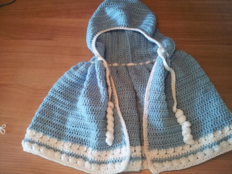 Baby Child Ponchocloak With Hood Design By The Expat Crafter