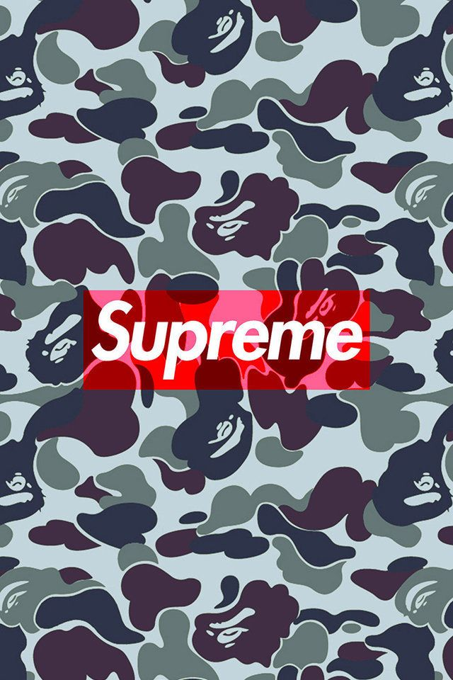 Bape X Supreme Wallpaper Iphone 6 Floweryred2 Com