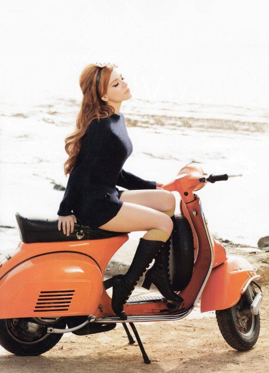 Retro Girl and The Vespa! | Art And Chic