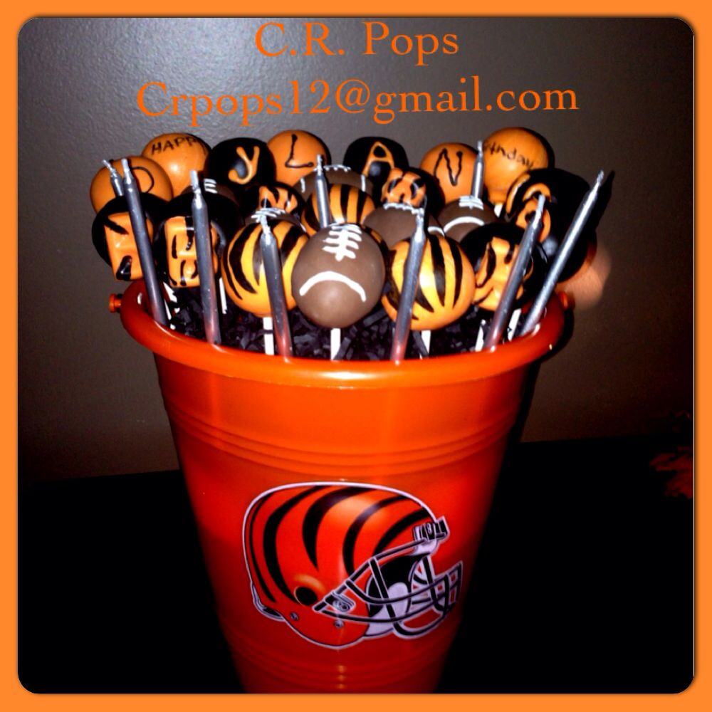 Bengals Cake Pops Great For The Who Dey Fans Created By CR Columbus Ohio Check Us Out On Facebook Also