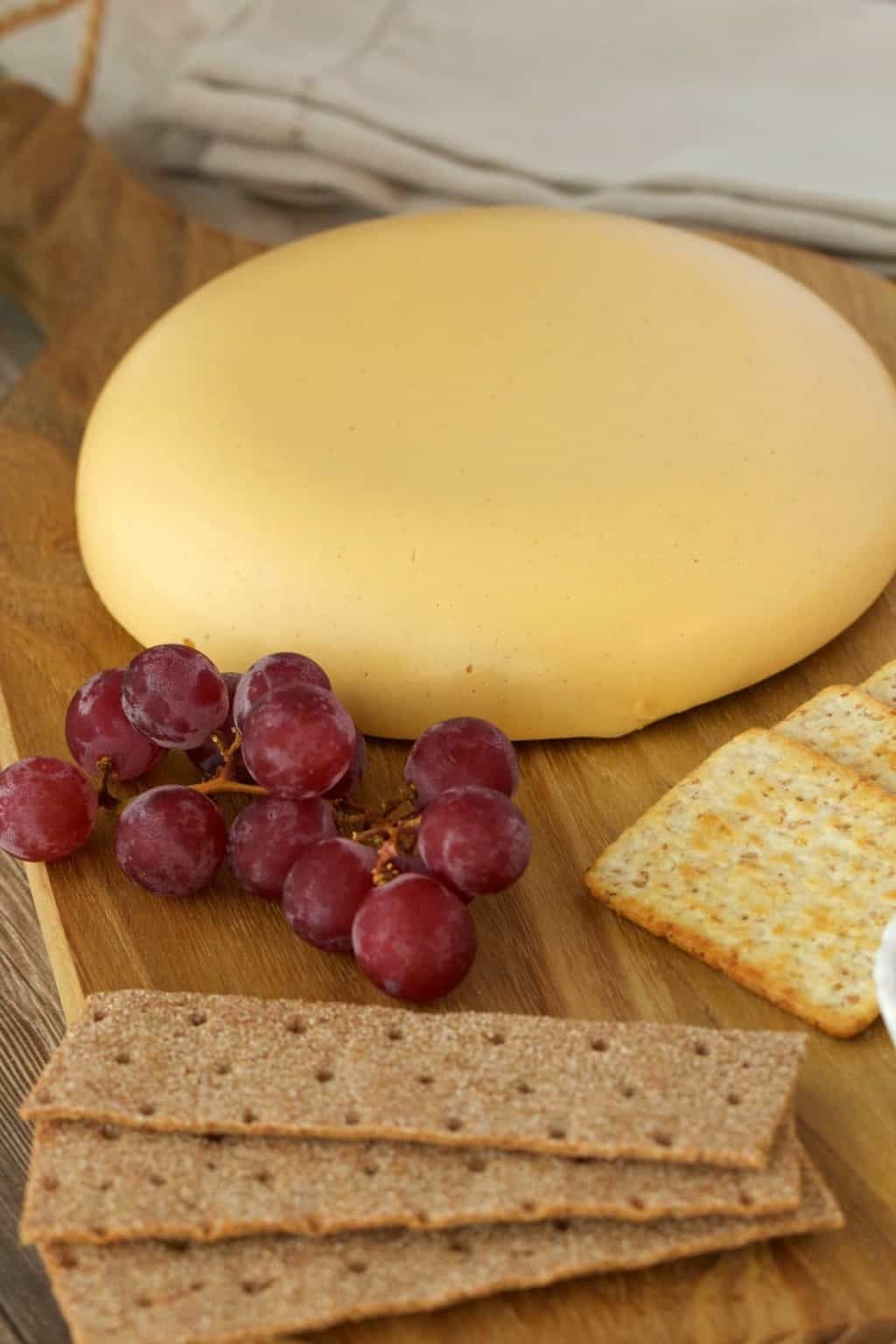 Vegan Cashew Cheese That Is Sliceable And Perfect For A Vegan Cheese Board Full Flavored Authentic Look Vegan Cashew Cheese Vegan Cheese Boards Cashew Cheese