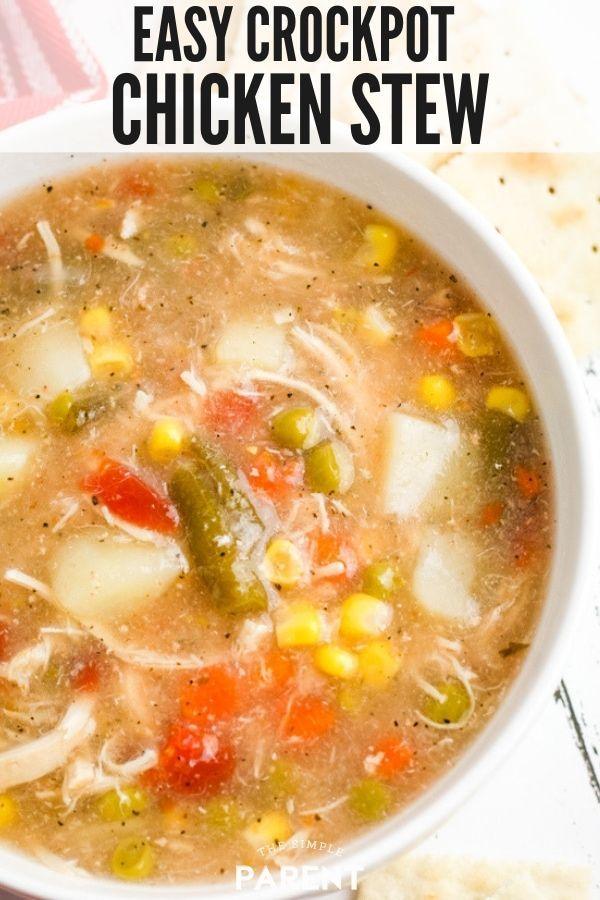 Crock Pot Chicken Stew #chickendumplingscrockpot
