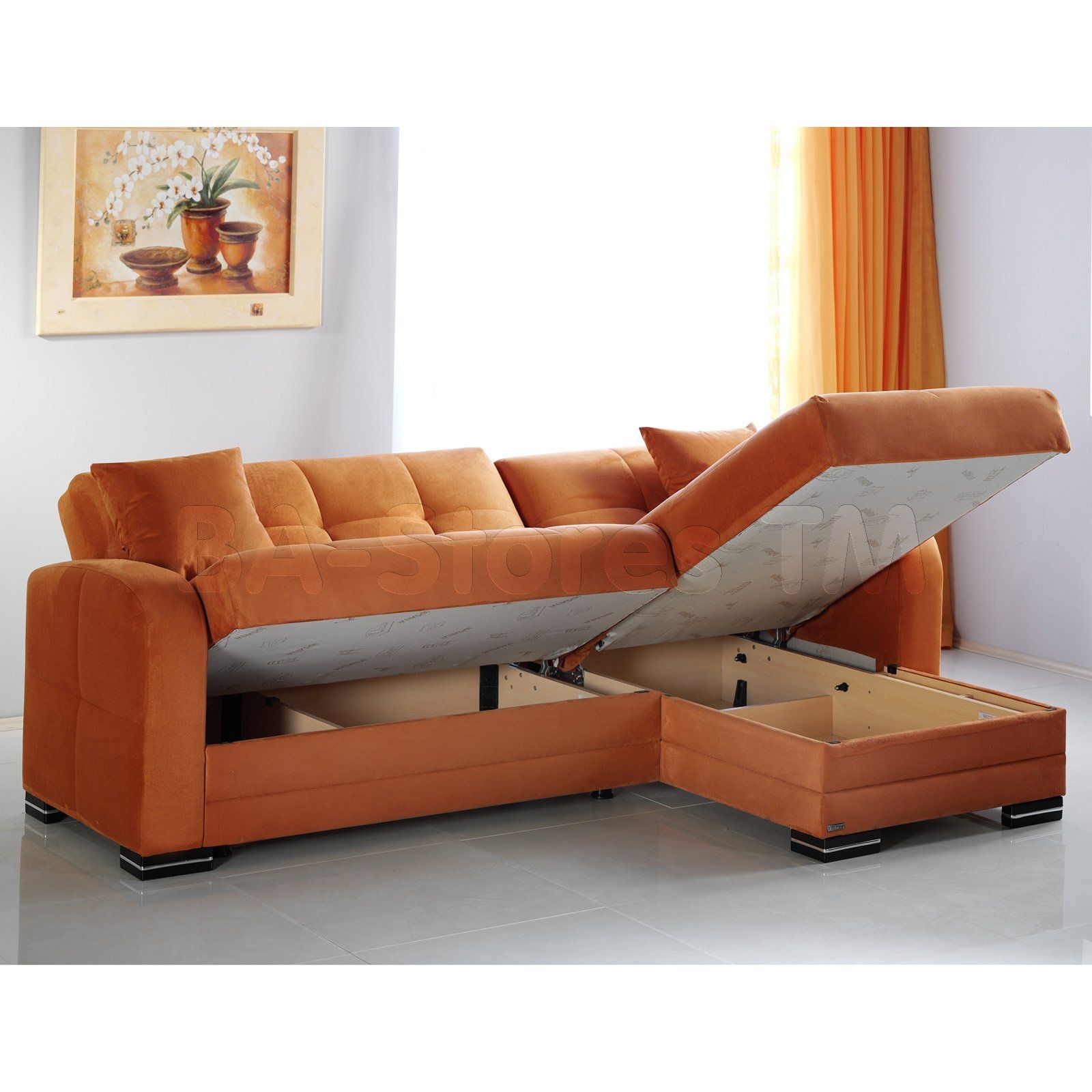 Best Unique Orange Sectional Sofa 14 For Your Living Room Sofa 400 x 300