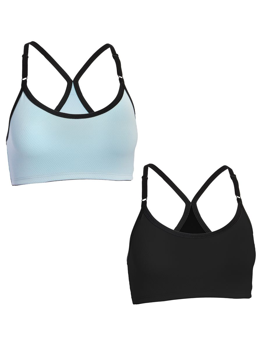 3cfcf812e3 Fruit Of The Loom (2 Pack) Womens Underwear Wirefree Sports Bras For Women  Workout