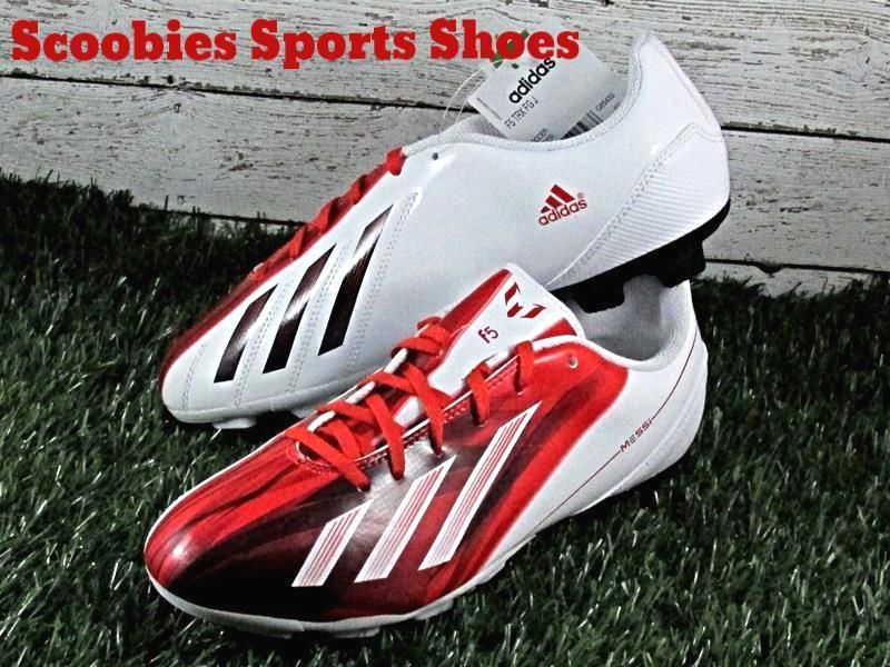 Adidas Messi F5 TRX FG Jr Youth Soccer Cleats Boys Girls RedWhite BNIB