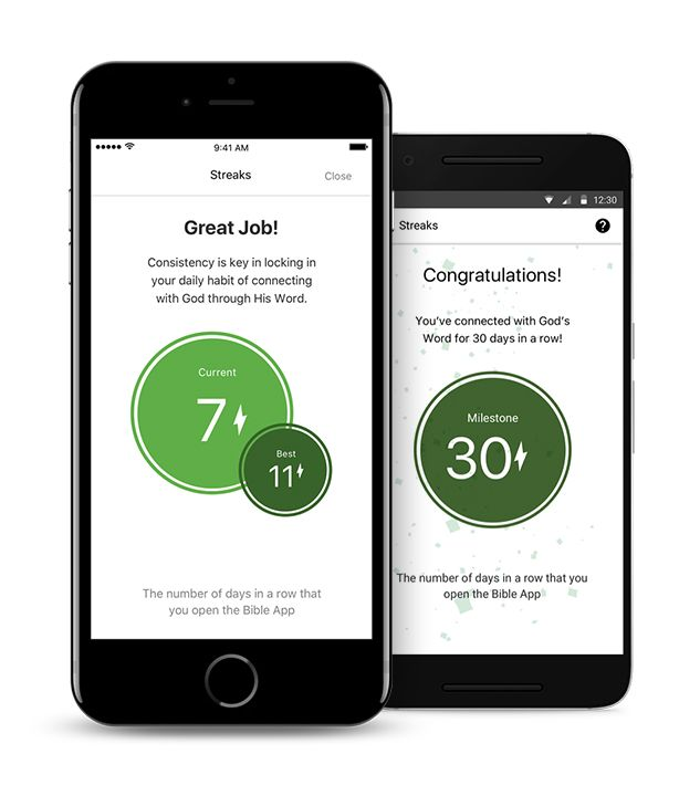Bible reading Streaks on you version Bible, Youversion