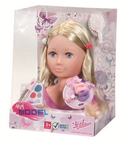 My Model Hair Styling Makeover Head Hairdressing Doll Set New Zapf Creation Doll Sets Model Hair Style Makeover