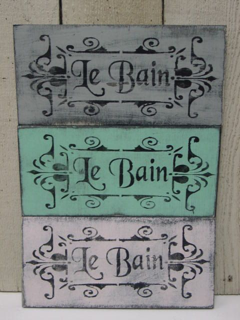 Shabby French Cottage Chic Le Bain Sign French Bathroom Sign Paris Apartment Chic Decor Fre French Bathroom Shabby French Cottage French Country Bathroom