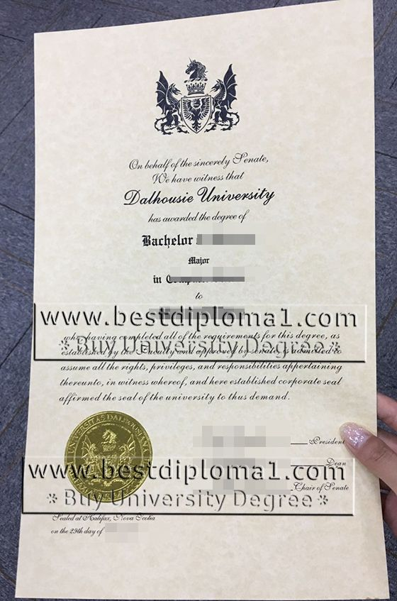 Dalhousie University degree, faking Dalhoucie certificate Canada - sample graduation certificate