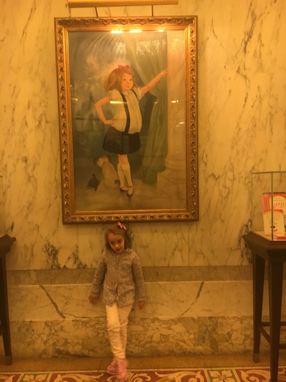 My girl at the Plaza with Eloise !