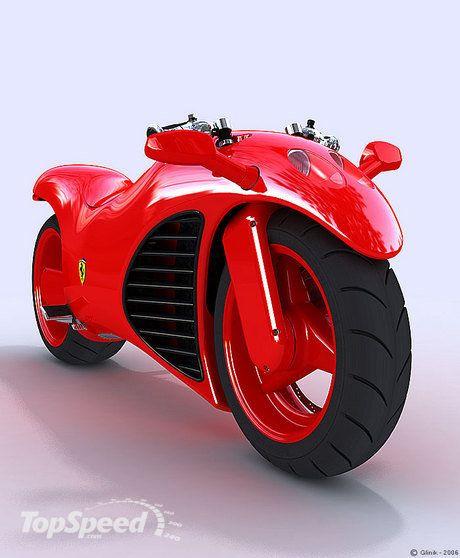 Ferrari V4 Motorcycle Concept Ferrari Bike Futuristic