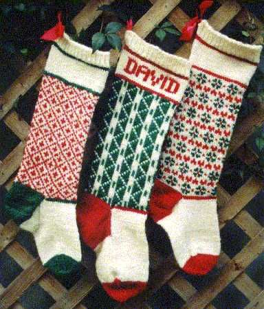 Vintage Personalized Christmas Stocking Knitted Pattern