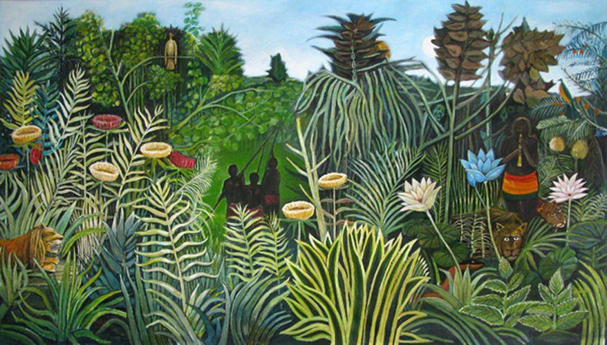 Deco Toile Bois Patrick Esther Peinture Ceramique Jungle