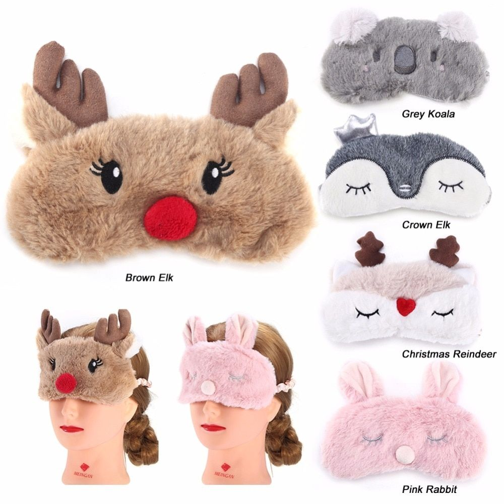 Winter Christmas Deer Funny Sleep Masks noveltysocks