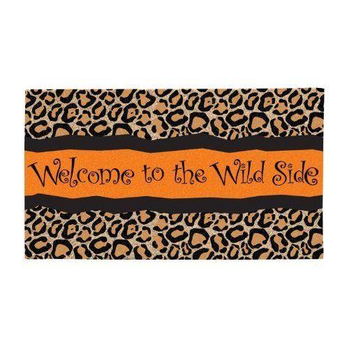 Welcome To The Wild Side Leopard Print Door Mat 19 99