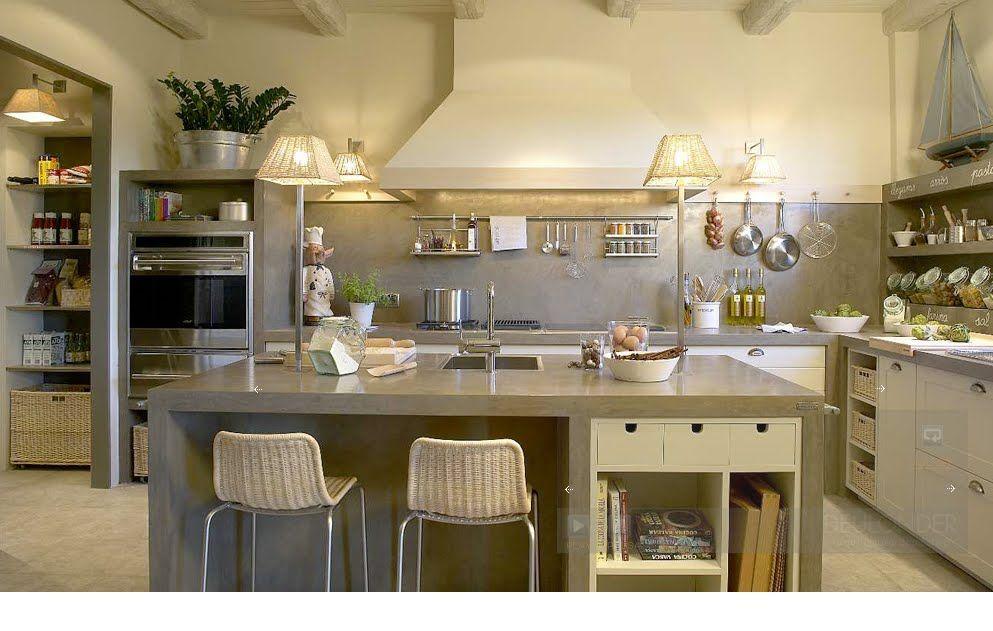 Cocinas Blanco Roto | Blanco Roto Shabby Chic Vintage Cocinas Espectaculares