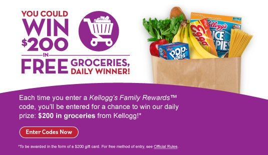 New 20 Point Code for Kellogg s Family Rewards! Sign up