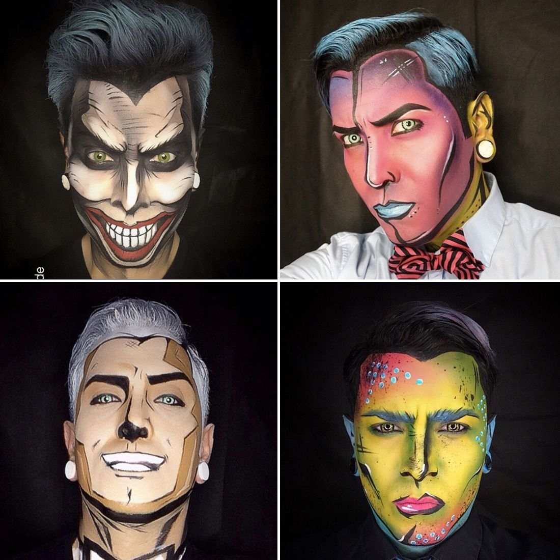 Get Ready For Your Jaw To Drop When You See These Comic Book Makeovers Pop Art Makeup Comic Book Makeup Face Painting Halloween