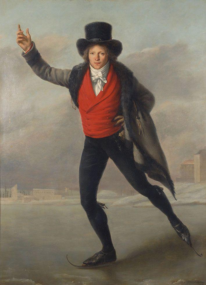 Pierre Maximilien Delafontaine: Bertrand Andrieu as a Skater, 1798  Oil on canvas, 179 x 130 cm, Musée de la Monnaie, Paris