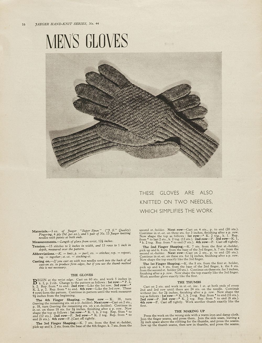 1940s patterns to knit v gloves knitting and crochet gloves knitting patterns victoria and albert museum bankloansurffo Images