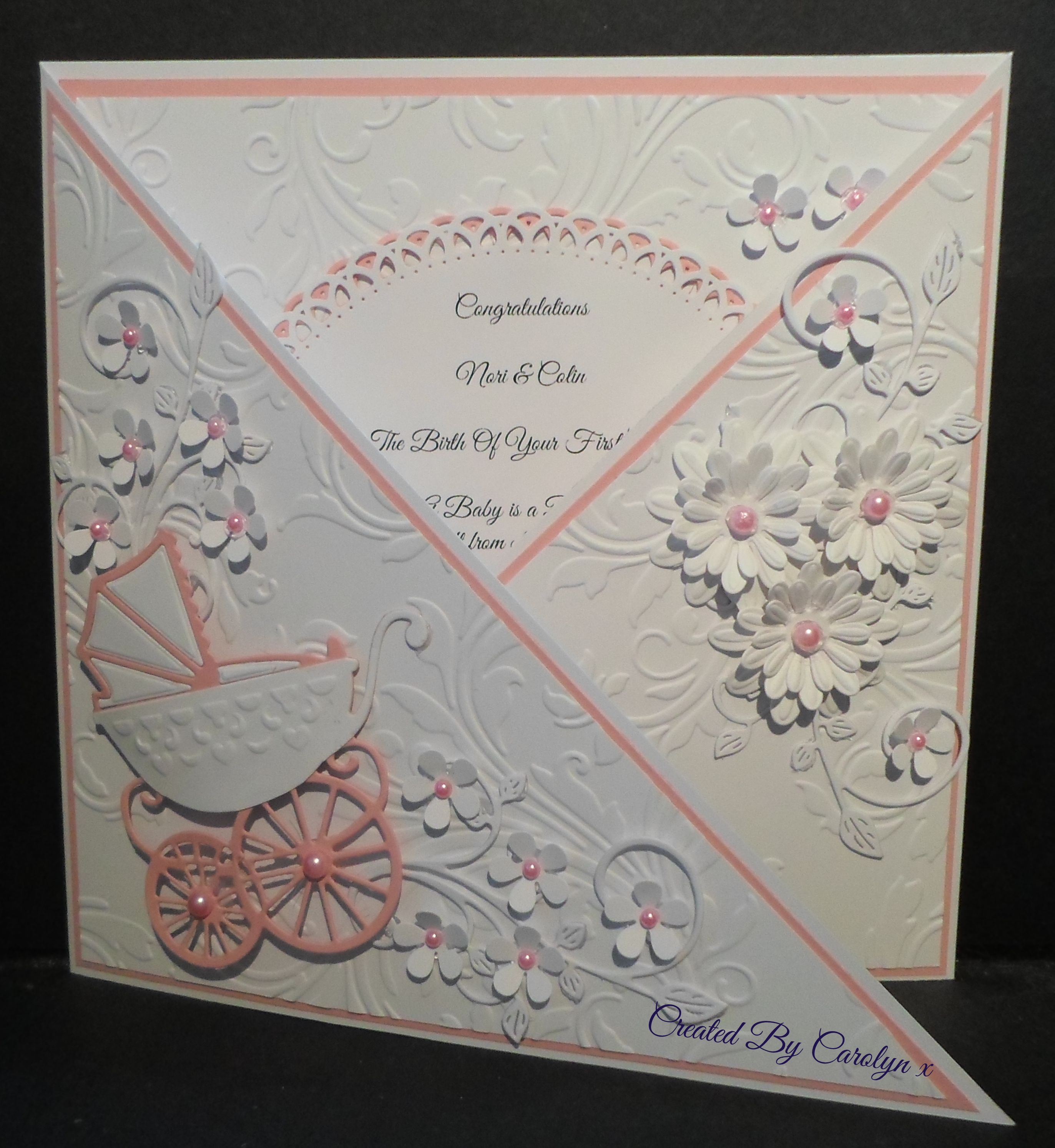 Baby Card Making Ideas Part - 20: NEW BABY CARD FOR MY NEIGHBOURS WHO HAVE BECOME GRANDPARENTS FOR THE FIRST  TIME X