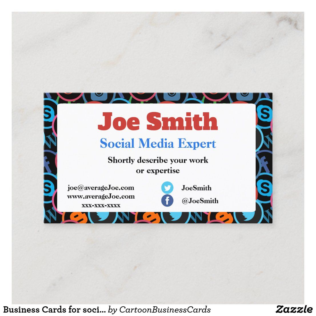 Business Cards For Social Media Expert Zazzle Com Social Media Expert Zazzle Business Cards Business Cards