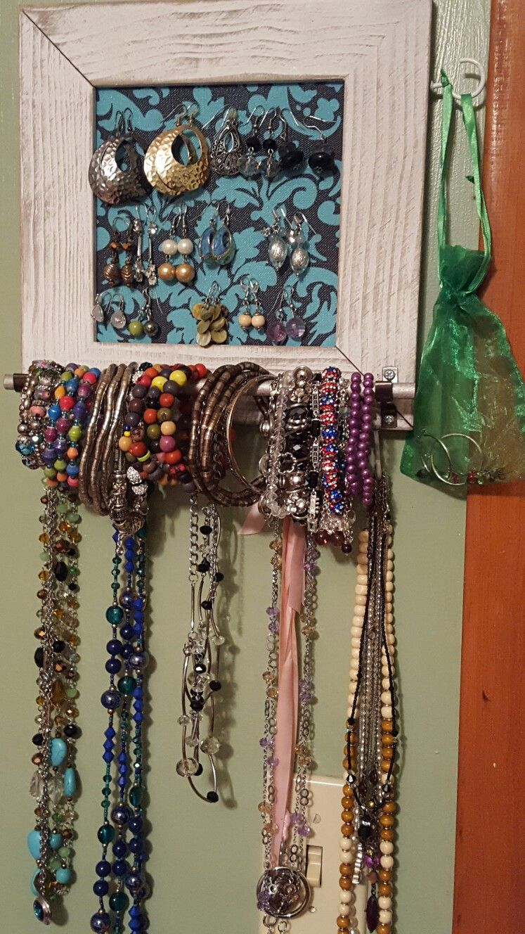 I made this jewelry display as a compact way to have my jewelry ...