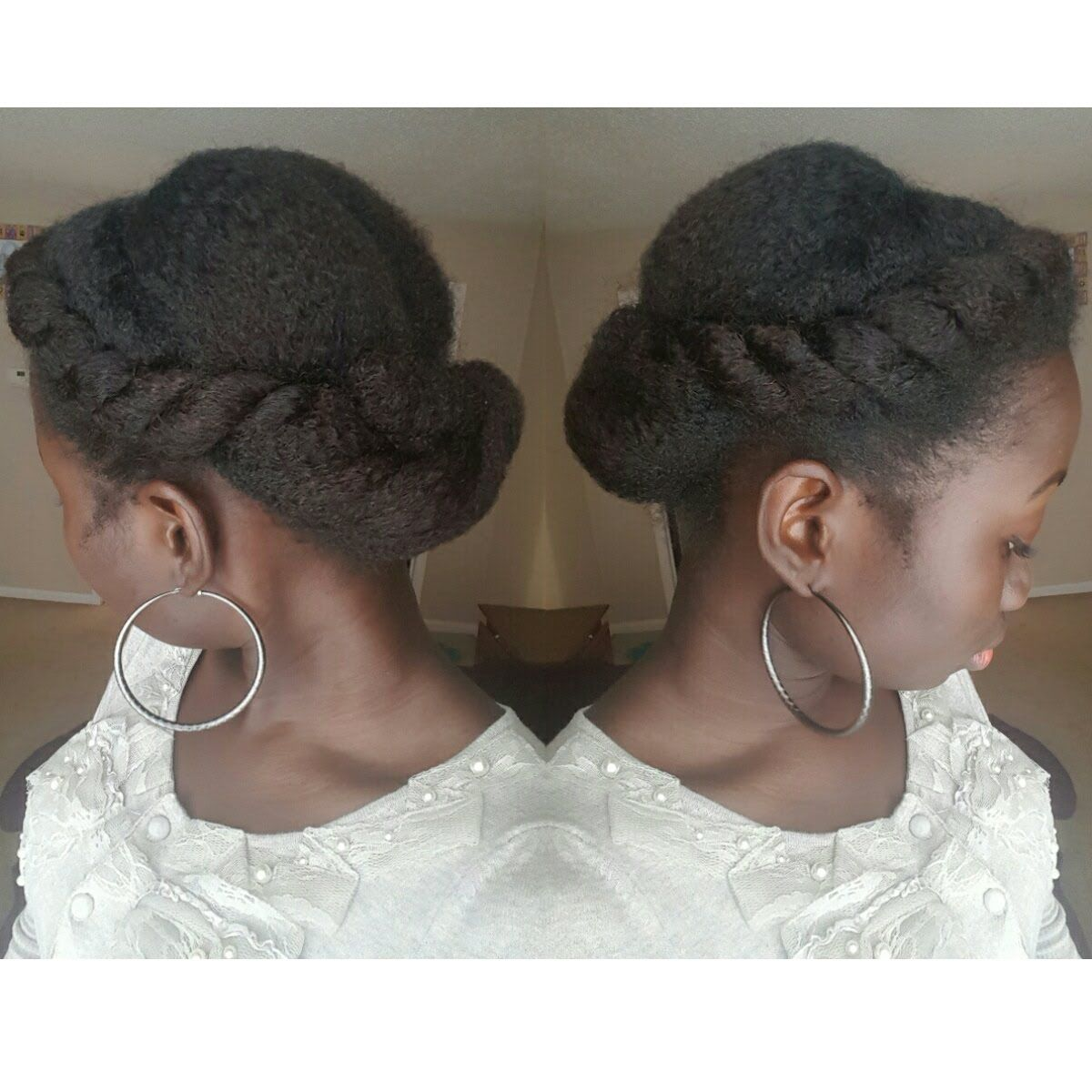 Twist and tuck protective hairstyle on natural hair my roots