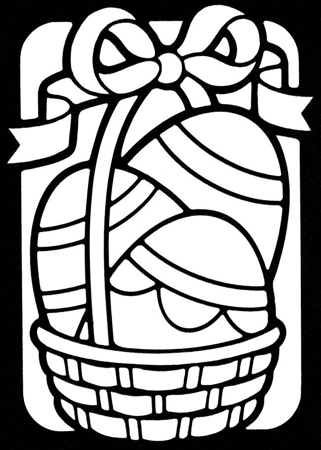 Wele To Dover Publications Stained Glass Easter Egg Coloring Page Rhpinterest: Easter Basket Coloring Pages Easy At Baymontmadison.com