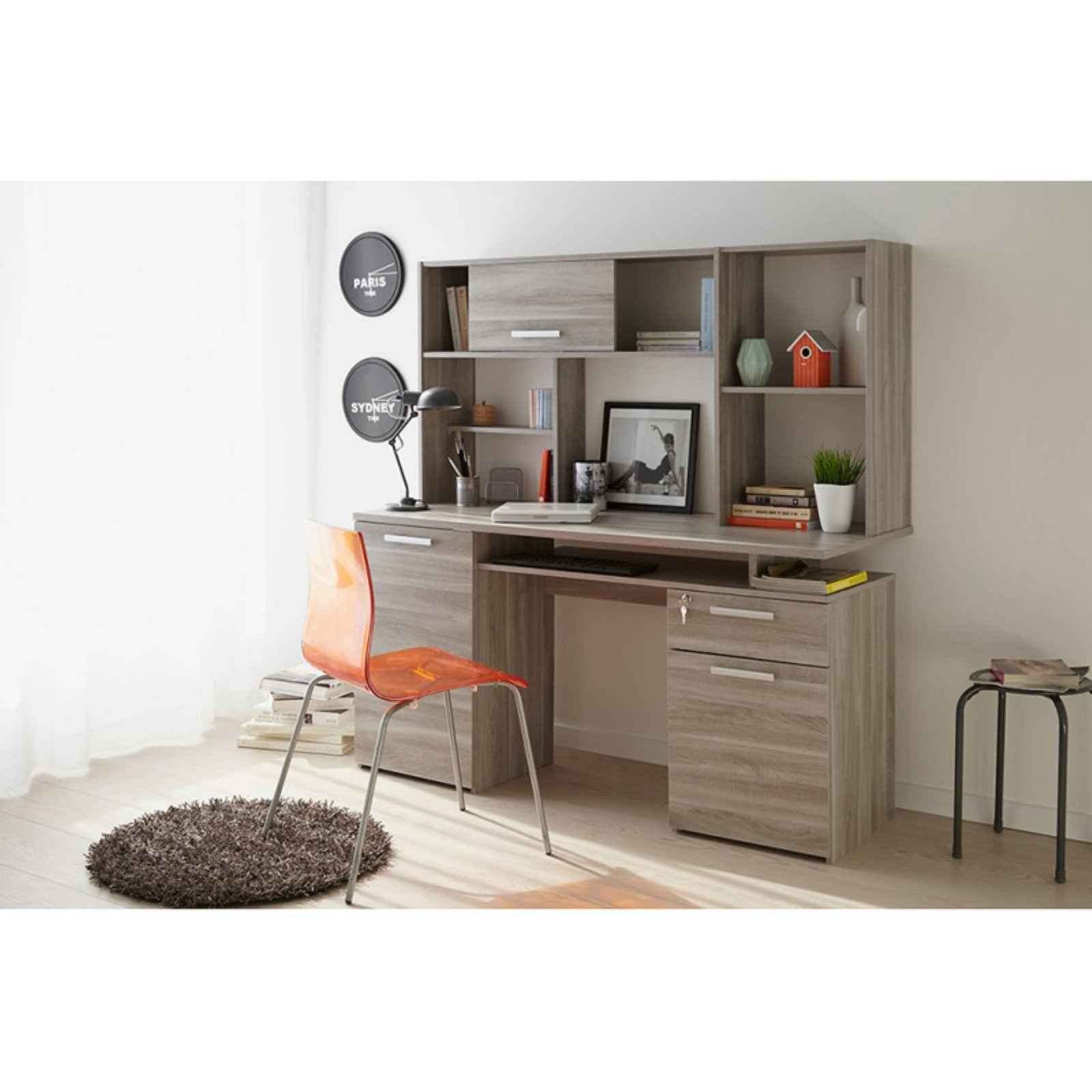 Parisot Minister Desk With Unit High Gloss Furniture