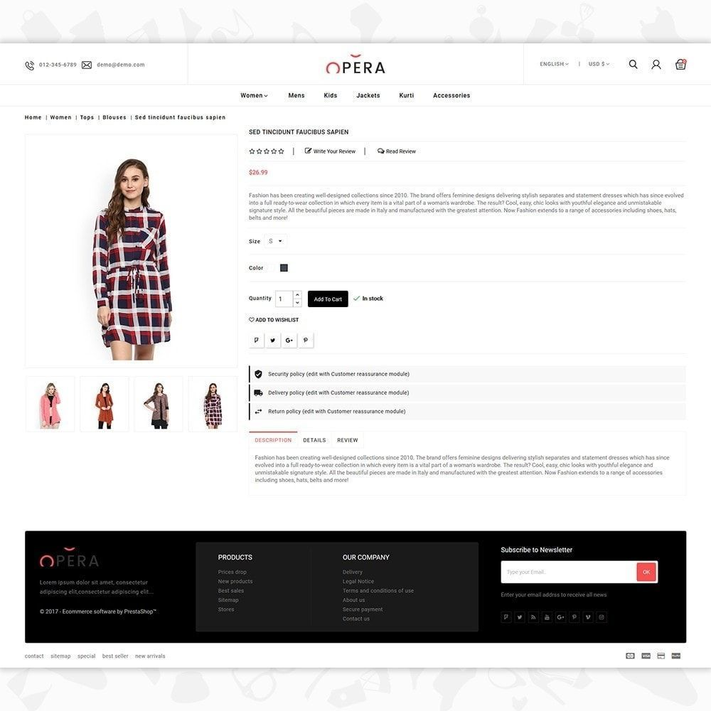 The Fashion  Fashion Store Template Is A Good Choice For Selling