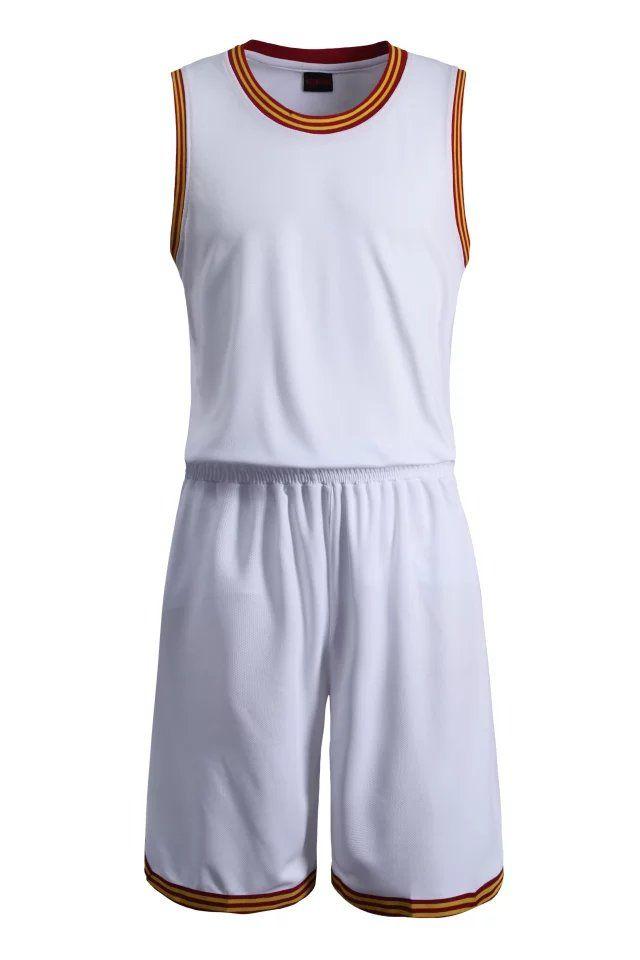 29da90b1695 Blank White Basketball Suit Team Name Logo Custom Usa Basketball Throwback  Cheap Sleeveless Basketball Uniforms