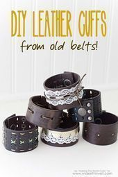Photo of Cool Steampunk DIY ideas – PDIY leather cuffs from old … – Cool Steampu …