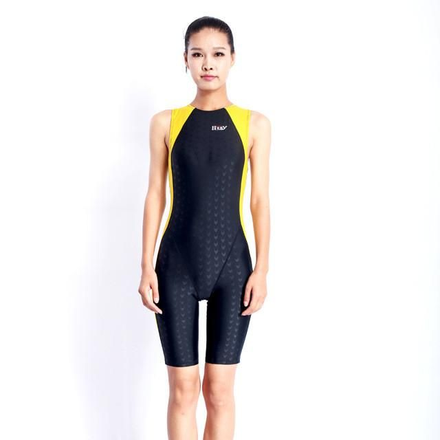 7f5269eb4b HXBY Professional Women Swimsuit Chlorine Resistant One Piece back zip Swimwear  sharkskin competition swimsuit large size 5XL