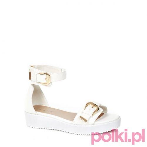 Białe sandały New Look, cena ok. 89 zł