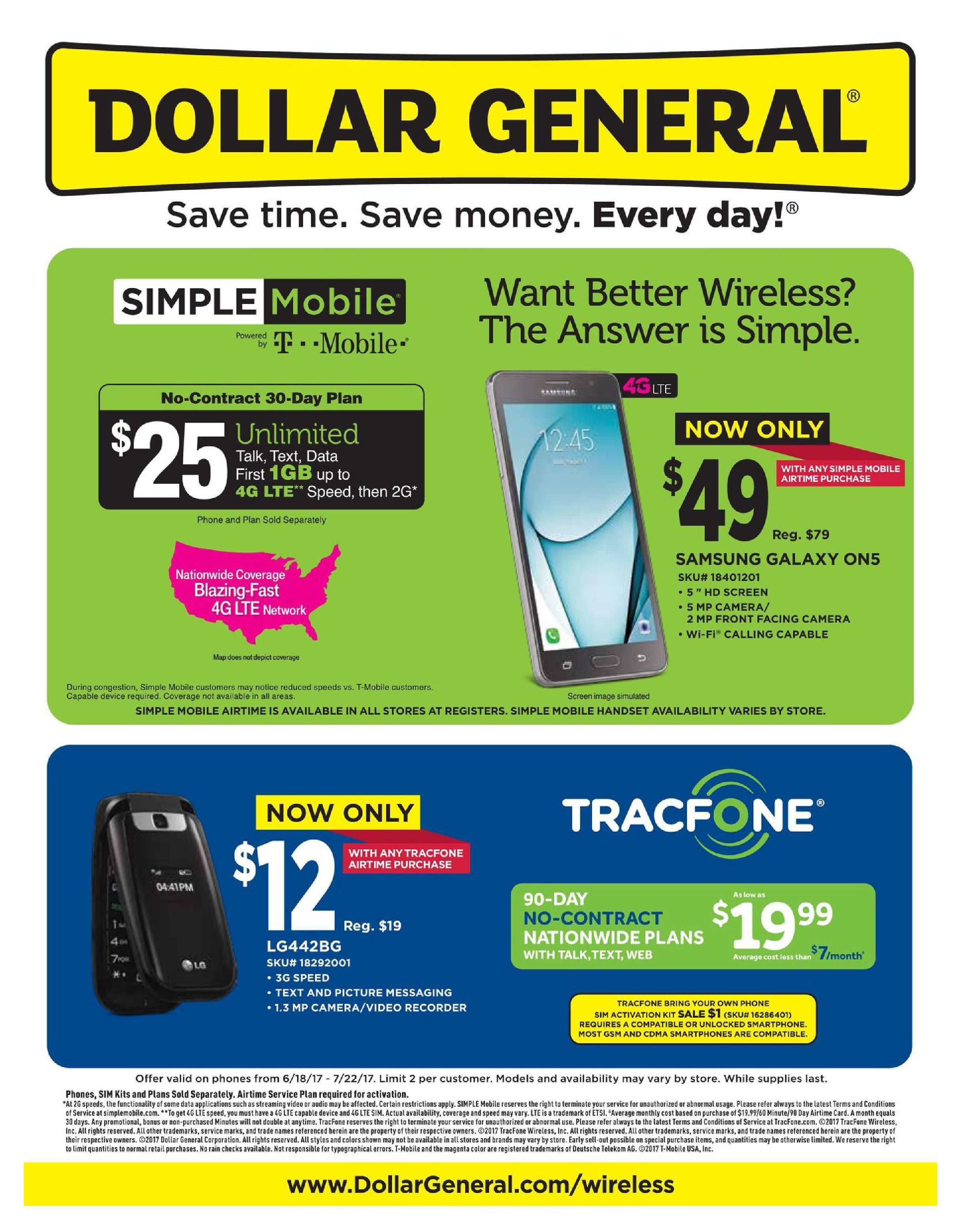 Dollar General Cell Phones June   July    HttpWww